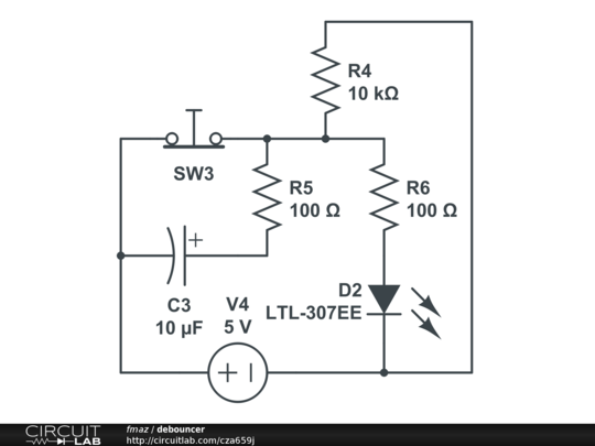 How the capacitor works (in a debouncing circuit