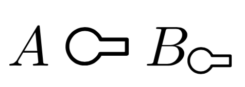 How can I typeset the math symbol with a circle and a