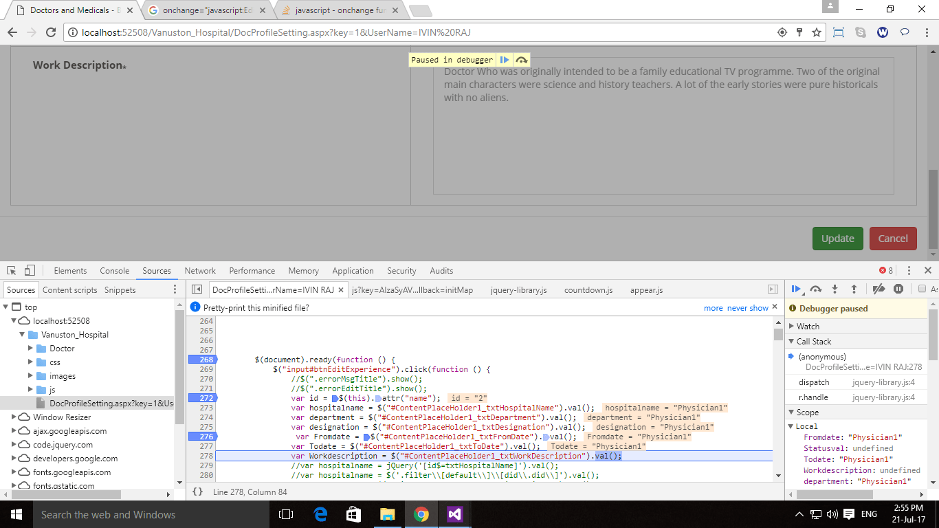 javascript - onchange function is working in a initial textbox but not working in the another textbox - Stack Overflow