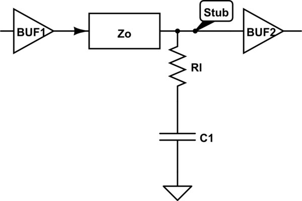 transmission line rf circuit what does capacitor do electrical