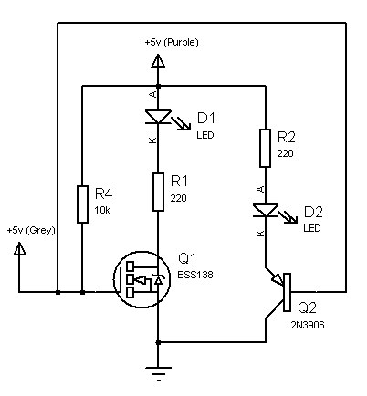 How to use a NPN-Transistor to get status LEDs for an ATX