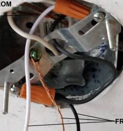 wiring ground wire from the junction box home improvement stackjunction box enter image description here [ 3687 x 1844 Pixel ]