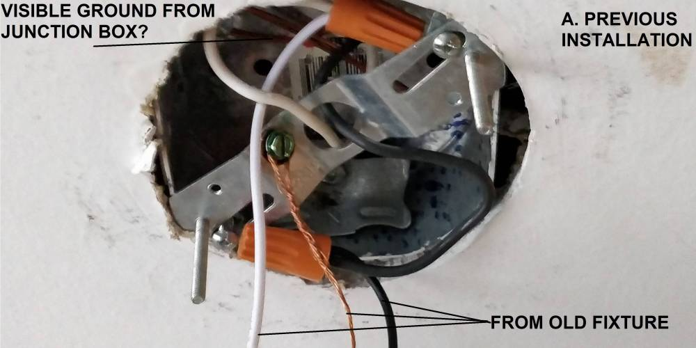 medium resolution of wiring ground wire from the junction box home improvement stackjunction box enter image description here