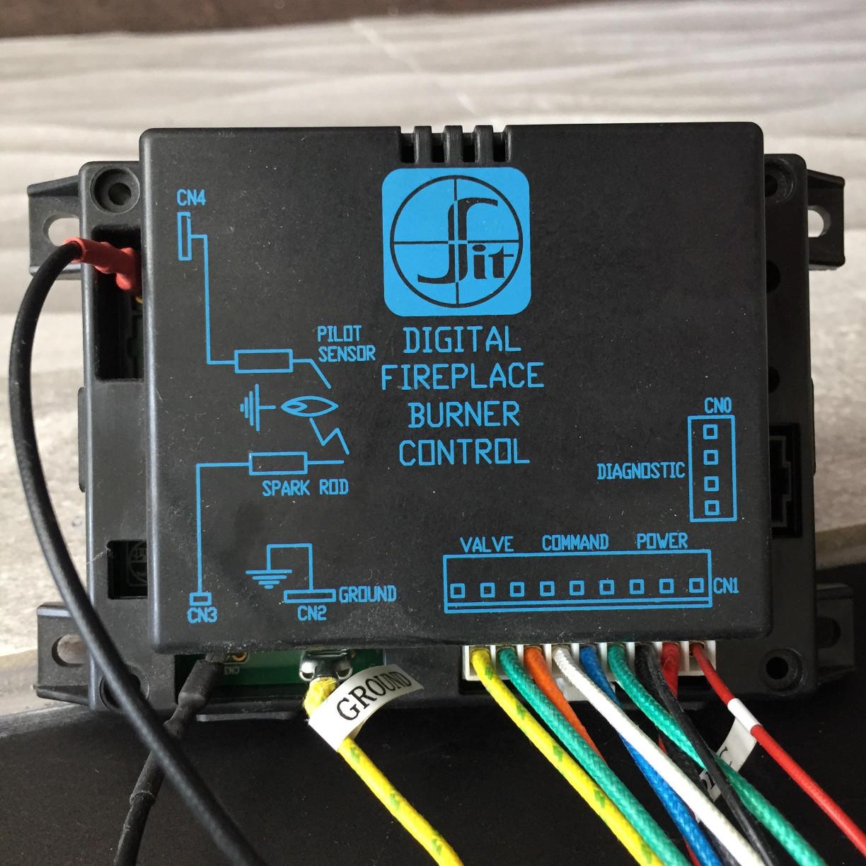 hight resolution of digital fireplace burner control