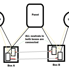 illustration of the setup with the neutrals wired correctly electrical  [ 1290 x 873 Pixel ]