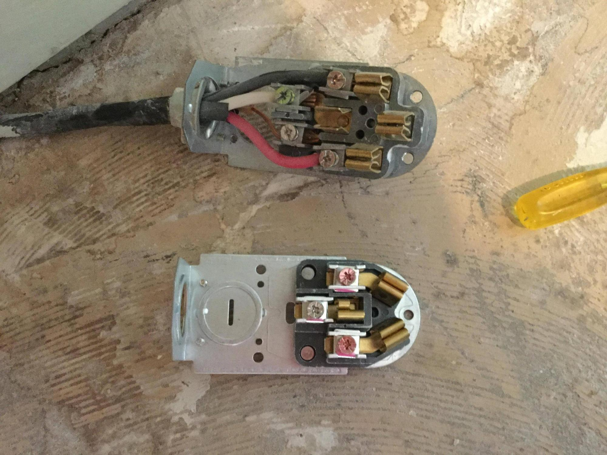hight resolution of changing a 4 wire electrical cord to a 3 wire electrical cord for a 50 amp plug wiring diagram electric range outlet wiring
