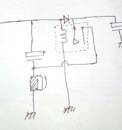 the hand drawn simple schematic explain the buzzer operation as intended [ 2261 x 1833 Pixel ]