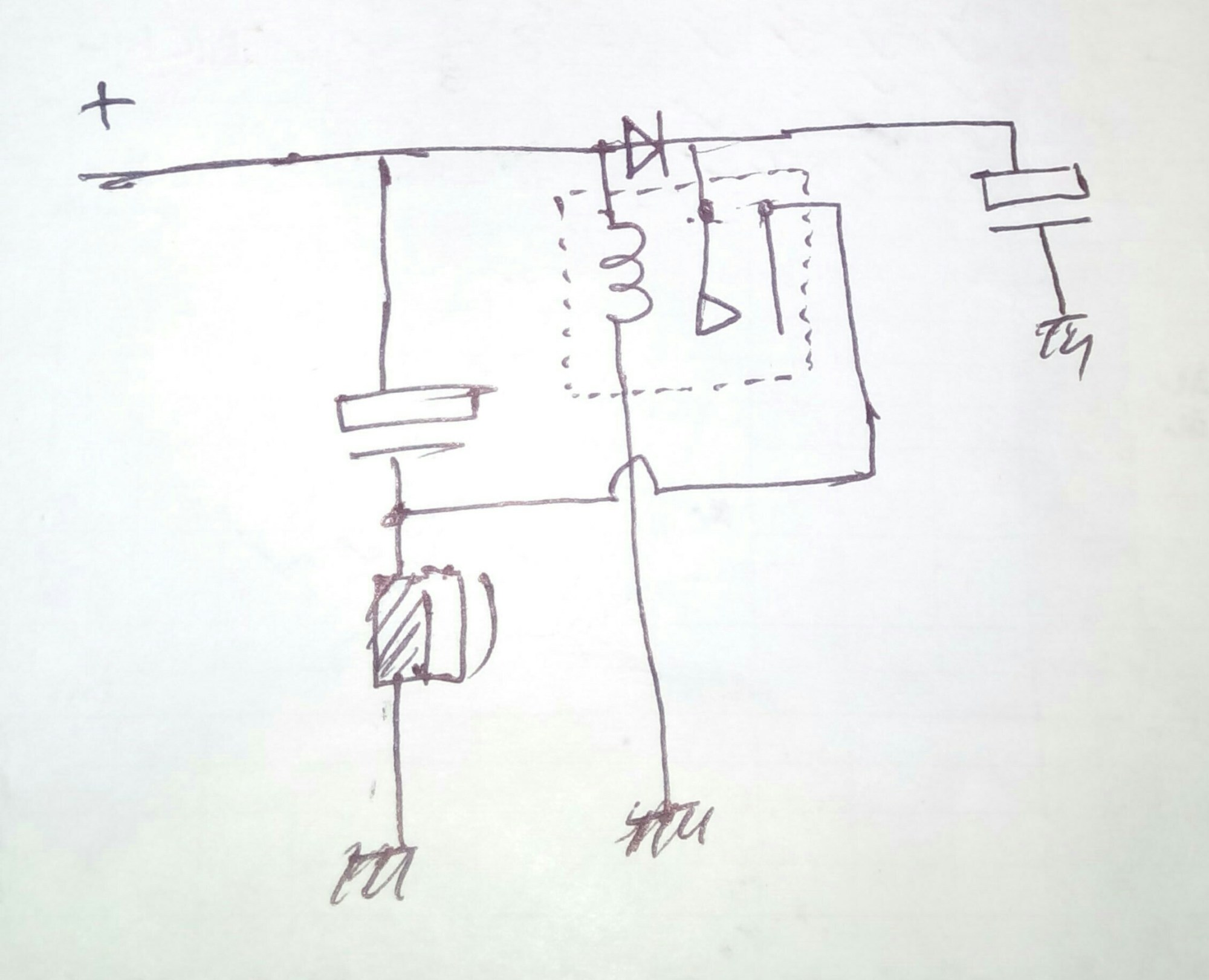 hight resolution of the hand drawn simple schematic explain the buzzer operation as intended