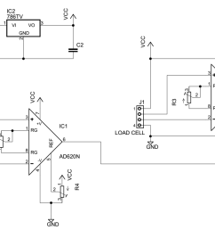 load cell amplifier circuit electrical engineering stack exchange load cell amp schematic schematic design [ 1351 x 796 Pixel ]