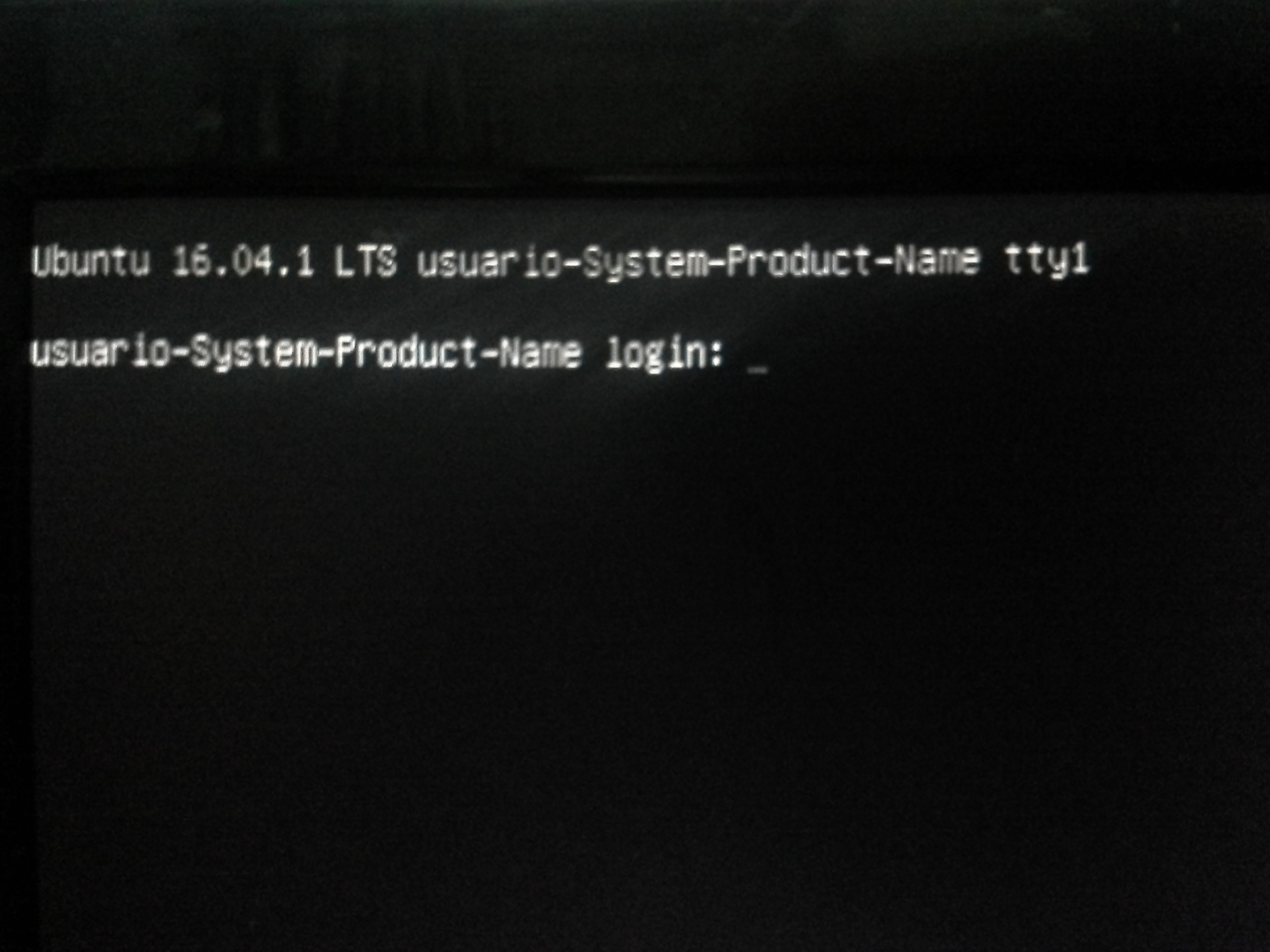 System Recovery Black Screen