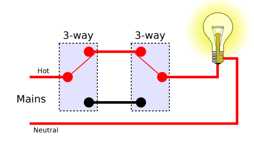 small resolution of electrical how can i eliminate one 3 way switch to leave just one 2 way light switch diagram one way switch diagram