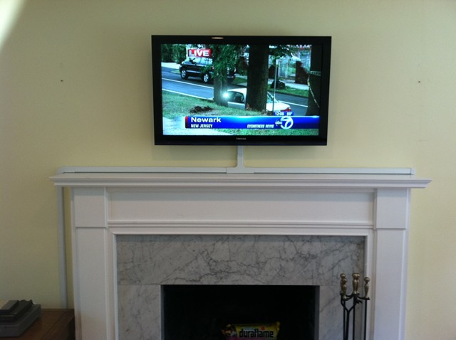Fireplace Mounting Tv Fireplace Brick Wall Mount Over Hide How Should I Run Wiring For My Above-fireplace Mounted Tv
