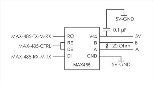small resolution of microcontroller is there any way to use half duplex rs485 without rs485 half duplex wiring diagram