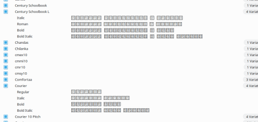 Font-manager with broken fonts