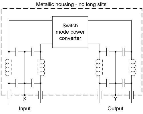 small resolution of inside the housig there should be symmetric lc rf filter for input and output the filters must be designed for the used voltages and currents