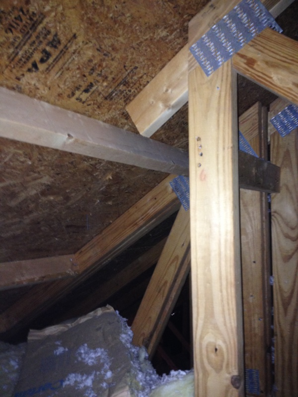 drywall  Recurring crack on second floor ceiling  Home