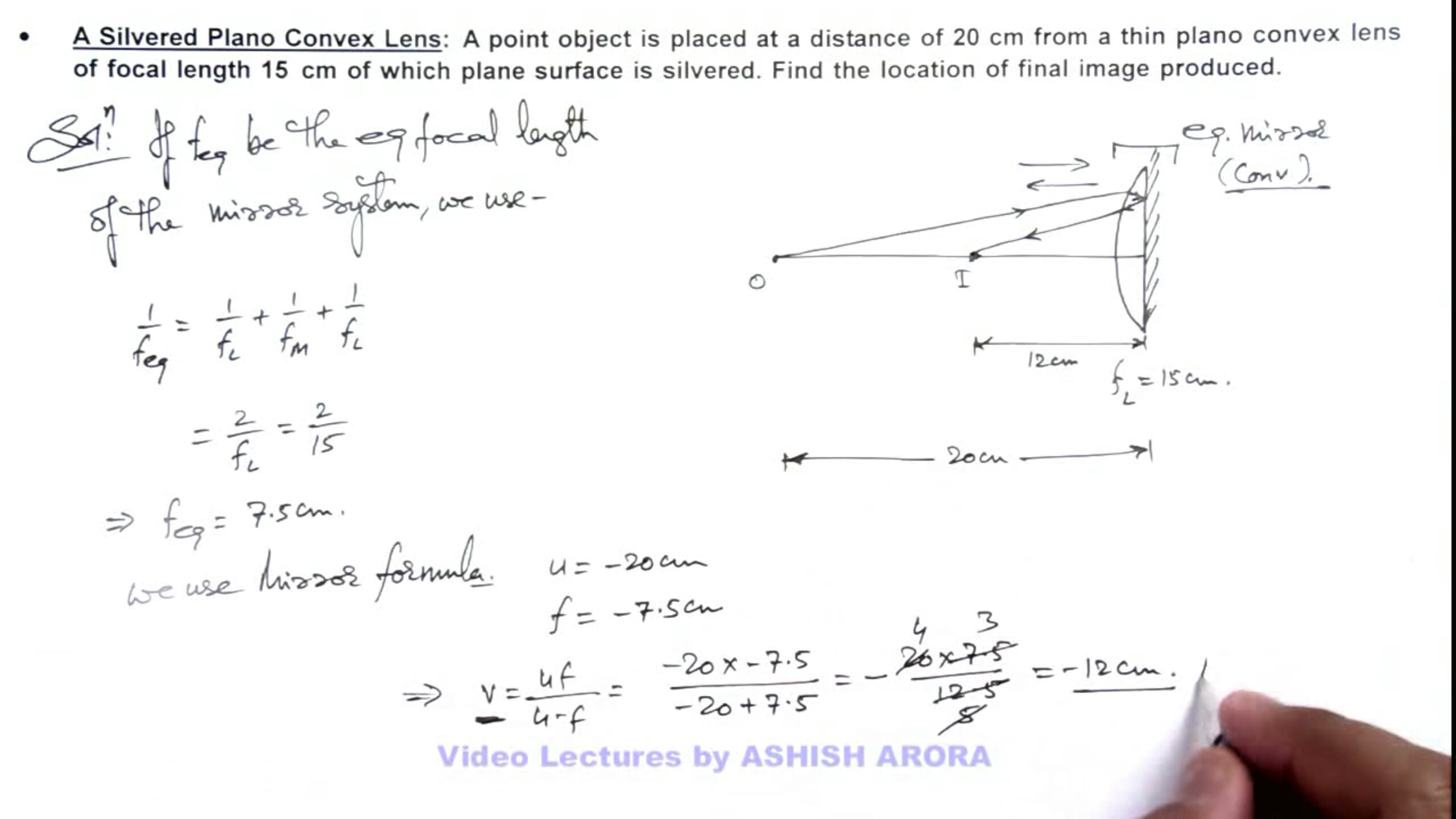 lenses for ray diagram physics 2016 f150 audio wiring optics confused regarding sign convention of silvered