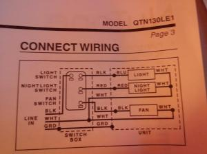 electrical  Help wiring Bathroom fan  Home Improvement
