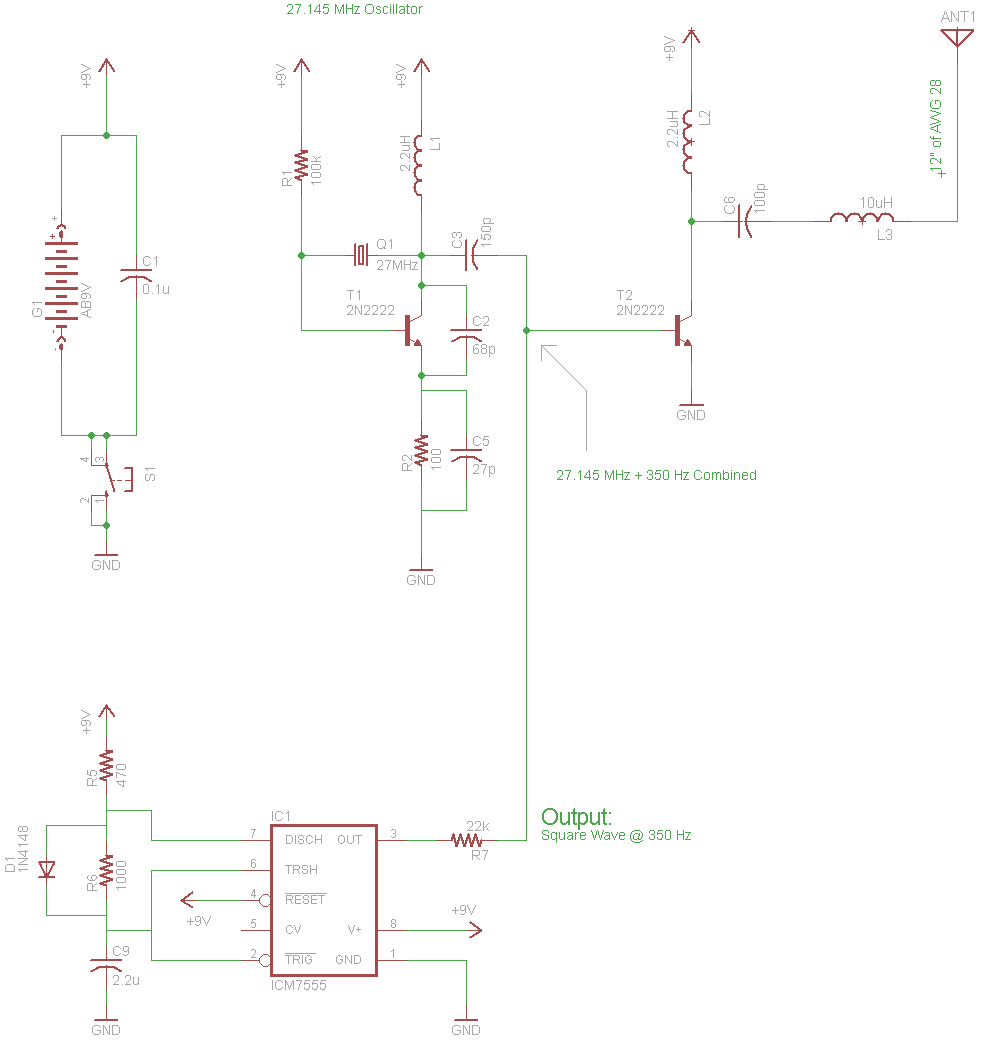 simple am receiver circuit diagram gm delco radio wiring circuits blog a crystal for the beginner purpose of l2l3 c6 in following cw transmitter