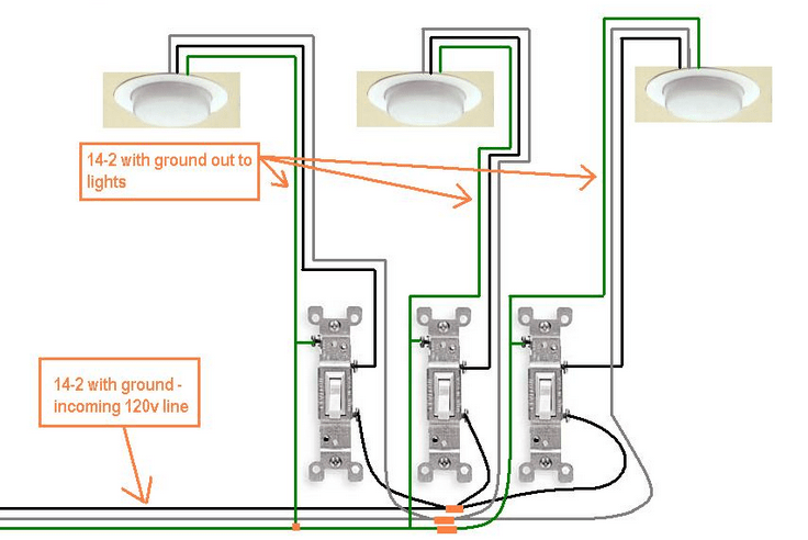 3 gang switch wiring diagram 220v welder plug electrical how do i wire a in my new bath home enter image description here