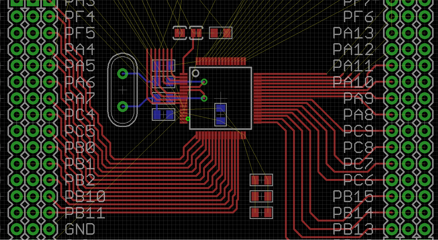 pcb design  Routing over 8 MHz crystal traces