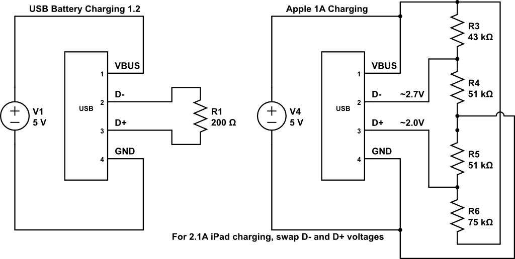 car battery wiring diagram atv winch power split 5v 3a into 1a in 2a to make usb charging device enter image description here