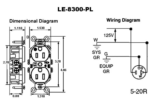 125v Receptacle Wiring Diagrams 220V Receptacle Wiring