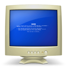 Finder - Icon Of Pc Show Blue Screen