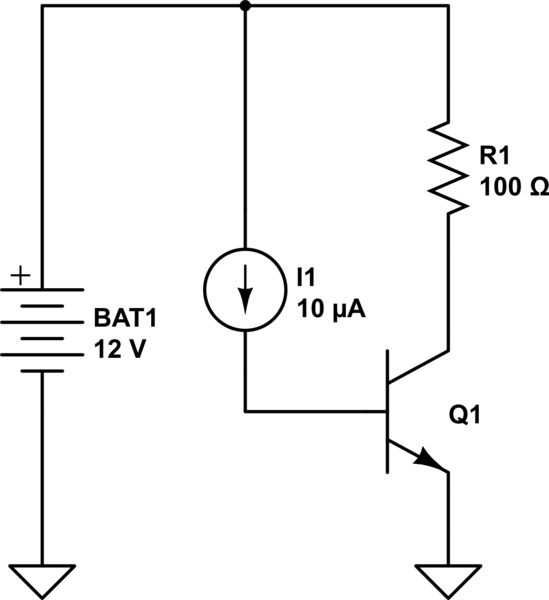 Transistor power dissipation, current, and voltage