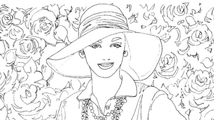 Colouring book featuring the iconic elegance of the 1950s