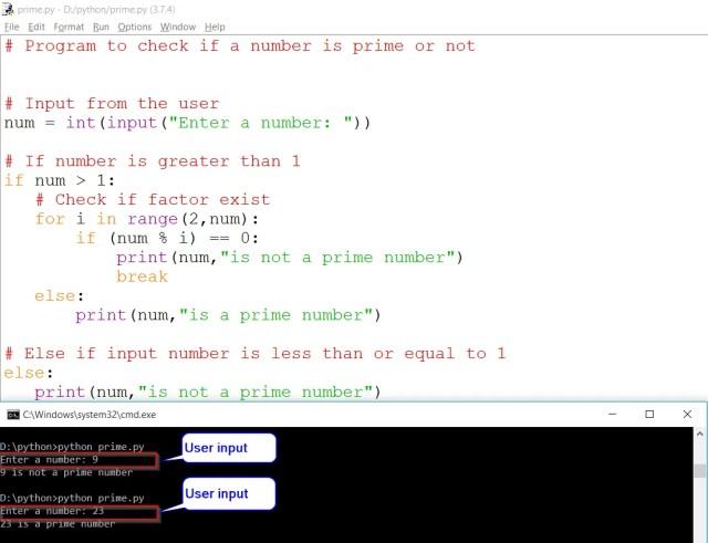 Python Check Prime Number