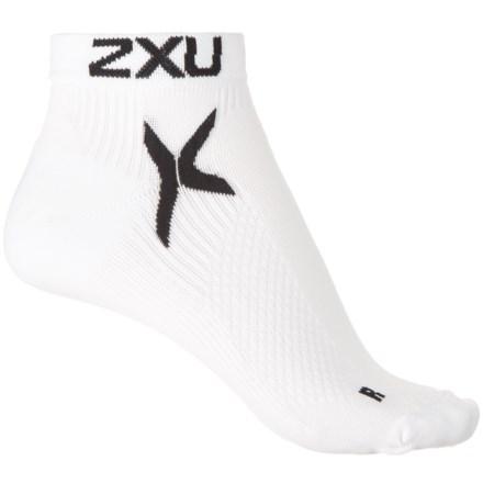 Xu High Performance Low Rise Socks For Women In White Black