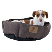 AKC Burlap Cuddle Cup Dog Bed