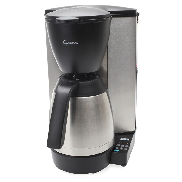 Capresso Mt600 Drip Coffee Maker - 10 Cup Thermal Carafe Charcoal Water Filter Save 34