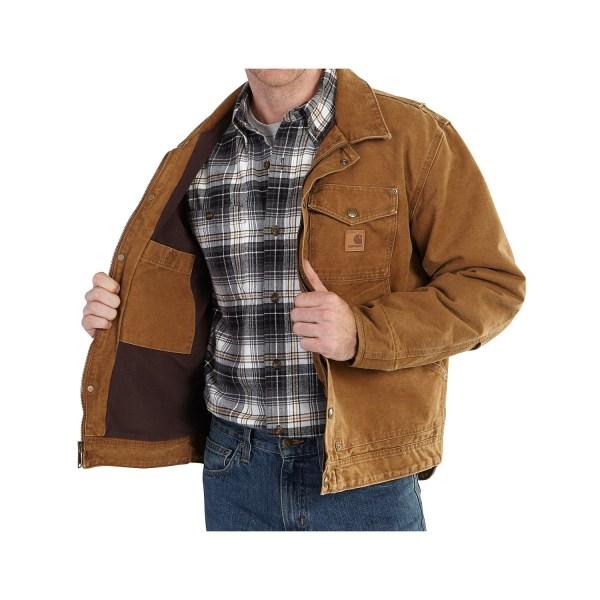 Carhartt Berwick Sandstone Duck Jacket Big And Tall Men