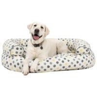 Cynthia Rowley Dot Canvas Oval Couch Bolster Dog Bed ...