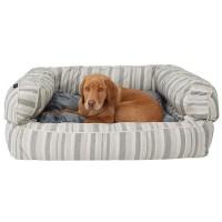 Cynthia Rowley Sandie Oxford Stripe XL Bolster Dog Bed ...