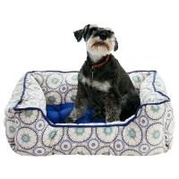 Cynthia Rowley Tile Medallion Lounger Dog Bed - 28x22 ...
