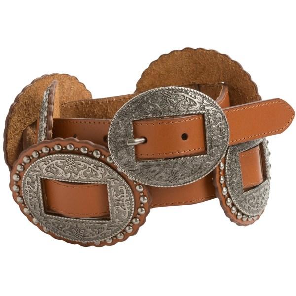 Dan Post Concho Leather Belt Women - Save 49
