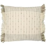 Devi Jenkins Embroidered Slub Throw Pillow 20x20