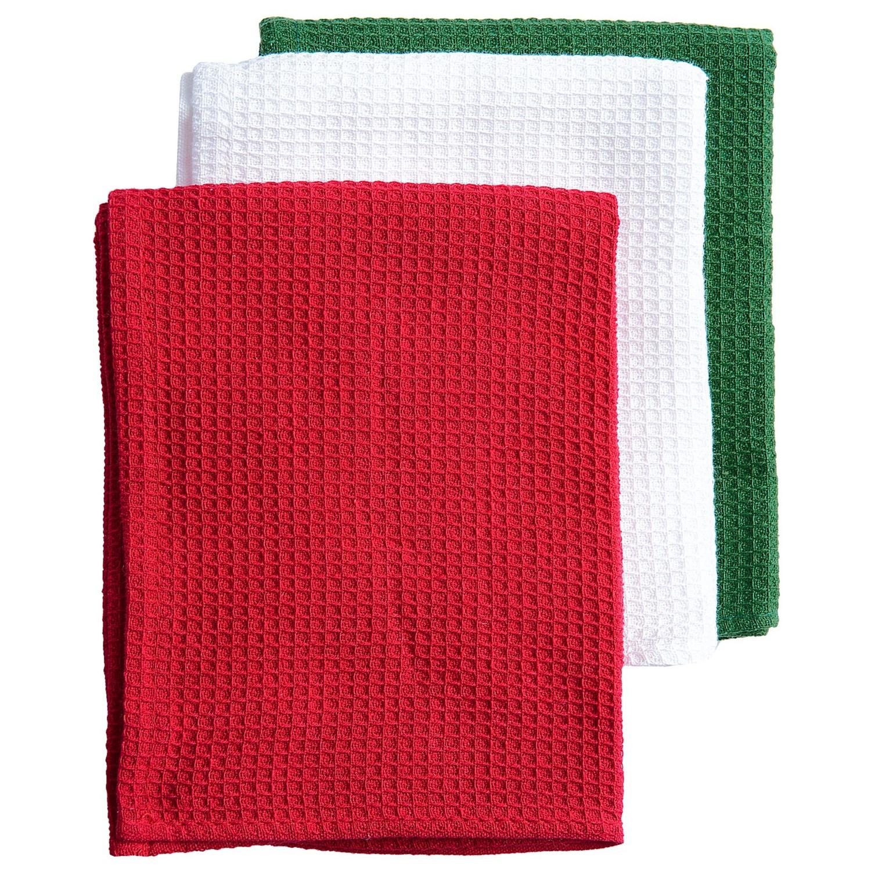DII Kitchen Linen Dish Towel Gift Set  3Pack  Save 65