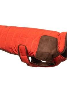 Eddie bauer quilted field dog coat small in orange brown also save rh sierra