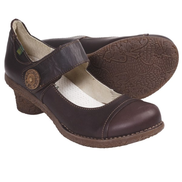 Brown Leather Mary Janes Shoes for Women