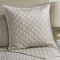 Fleur De Lis Blue Diamond Quilted Pillow Sham