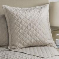 Fleur De Lis Blue Diamond Quilted Pillow Sham - Euro ...
