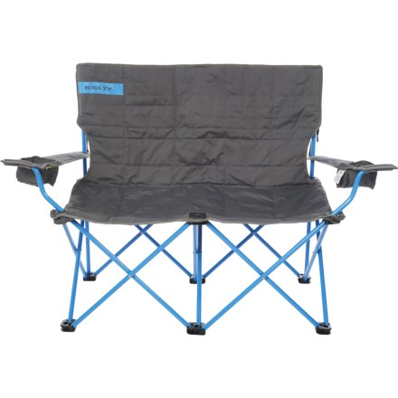 lewis and clark camping chairs steel chair picture average savings of 38 at sierra kelty folding loveseat in smoke paradise blue