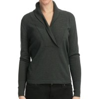 Lilla P Cotton-Cashmere Shawl Collar Sweater (For Women)