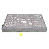 Max Studio Chalkboard Rectangle Dog Bed
