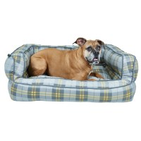 Max Studio Pet Plaid Bolster Dog Bed - Extra Large, 36x27 ...