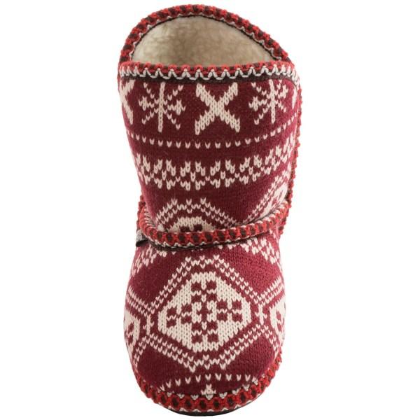 Women's MUK LUKS Knit Boot Slippers